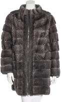 Giuliana Teso Mink Zip-Front Coat