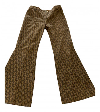 Christian Dior Brown Cloth Trousers