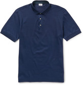 Brioni Slim-Fit Cotton-Piqué Polo Shirt