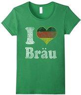Women's German I Love Brau Oktoberfest Germay Shirt Large
