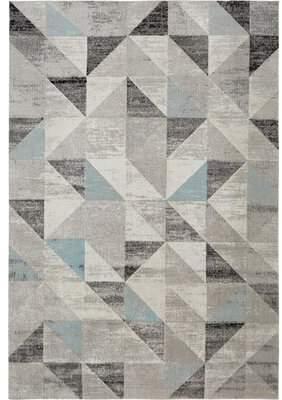 "Nicole Miller Sofia Gray/Blue Indoor/Outdoor Area Rug Rug Size: Rectangle 7'9"" x 10'2"""