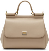 Dolce & Gabbana Beige Medium Miss Sicily Bag