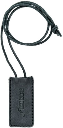 UMA WANG Embossed Logo Leather Tag