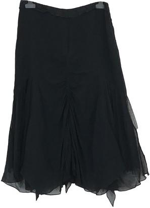 Martine Sitbon Black Silk Skirt for Women
