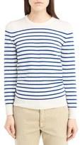 Saint Laurent Women's Grunge Stripe Cashmere Sweater