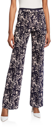 Victoria Victoria Beckham Tapestry Flared Trousers
