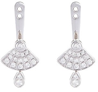 Lc Collection Jewellery 'Art Deco' diamond 18k white gold earring jackets