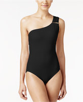 MICHAEL Michael Kors Essential One-Shoulder One-Piece Swimsuit