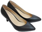 Wawoo®Classic Pointed Toe Pumps for Women Work Dress Loafers Mid Heels Stiletto Ladies Prom Shoe