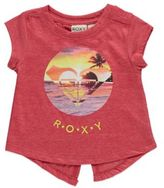 Roxy Reality Sun Short Sleeve Tee in Red