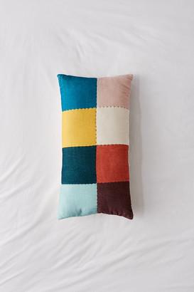 Urban Outfitters Emme Colorblock Velvet Bolster Pillow