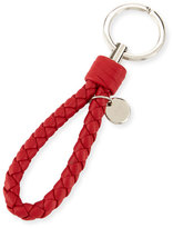 Bottega Veneta Braided Loop Key Ring, Red