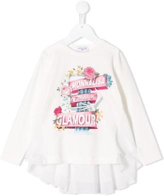 MonnaLisa Glamour print long sleeve top