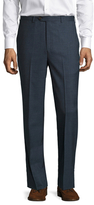 Brooks Brothers Wool Checkered Flat Front Trousers