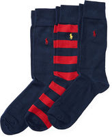 Polo Ralph Lauren Striped & Solid Sock Set