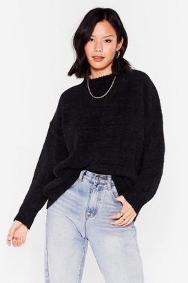 Nasty Gal Womens Big Softie Relaxed Knitted Sweater - Black