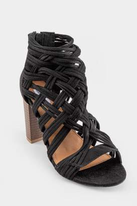 Not Rated Silica Woven Heeled Sandal - Black