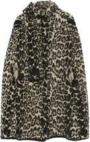 Sonia Rykiel Leopard-intarsia stretch-knit cape