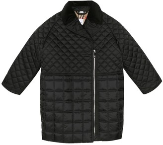 BURBERRY KIDS Quilted down coat