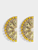 Anton Heunis Lemon Slice Earrings in Yellow and Gold Metal