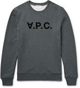 A.P.C. Appliquéd Fleece-Back Cotton-Jersey Sweatshirt