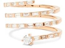 Shay Diamond & 18kt Rose-gold Spiral Ring - Rose Gold