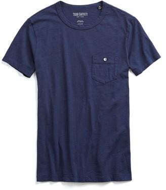 Todd Snyder Made in L.A. Slub Jersey Pocket T-Shirt in Original Navy