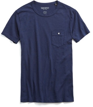 Todd Snyder Made in L.A. Slub Jersey Pocket T-Shirt in Original Navy