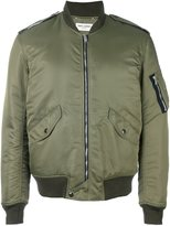 Saint Laurent classic bomber jacket - men - Cotton/Nylon/Polyester/Wool - 48