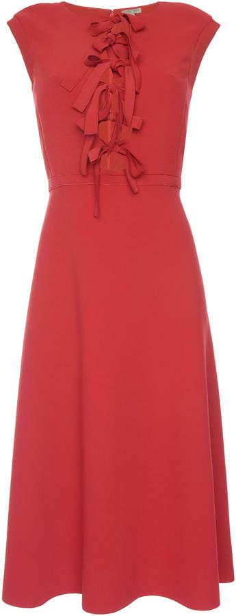 Bottega Veneta Bow Front Cap Sleeve Dress
