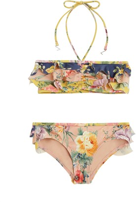 Zimmermann Zinnia Frill Bandeau Bikini