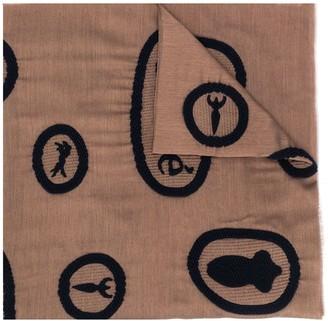 Chloé Knitted-Motif Silk Scarf
