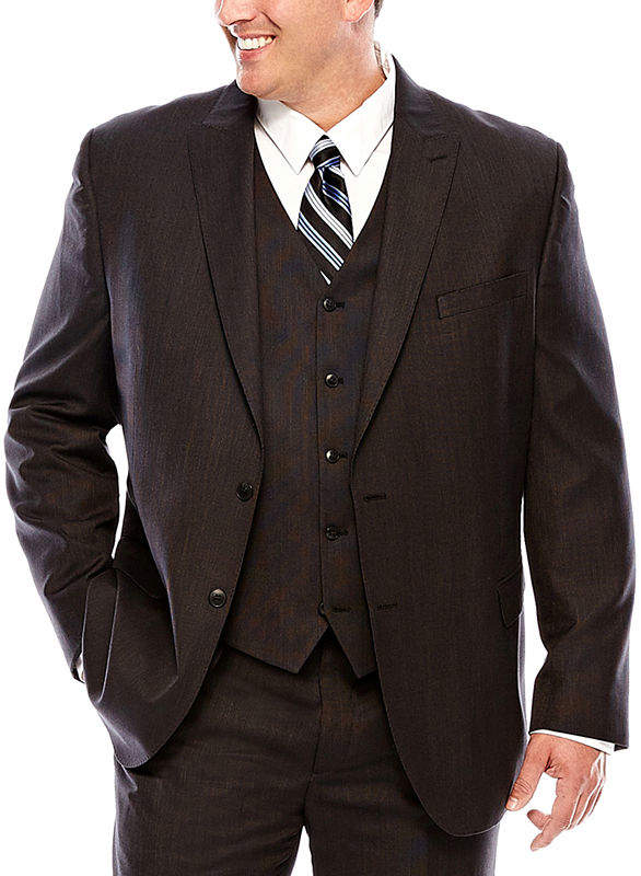 Jf J.Ferrar Black Nailhead Suit Jacket - Big & Tall