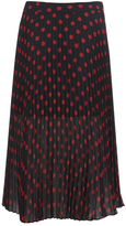 McQ by Alexander McQueen Women's Pleated Skirt Red/Black