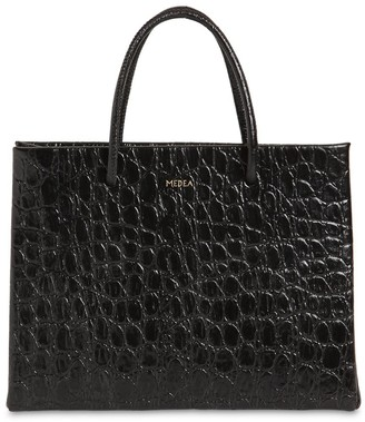 Medea Hanna Croc Embossed Leather Bag