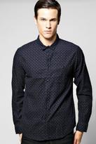 Boohoo Long Sleeve Printed Cord Shirt