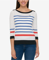 Tommy Hilfiger Striped Boat-Neck Sweater, Only at Macy's