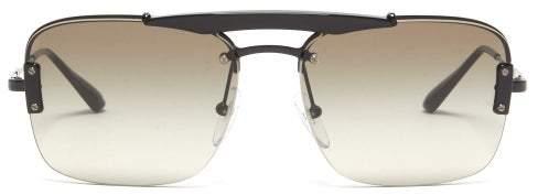 Prada Aviator Metal Sunglasses - Mens - Black