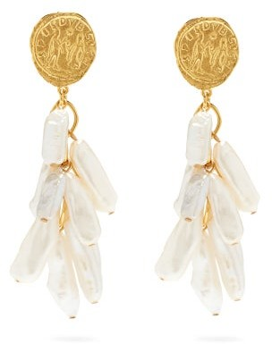 Lizzie Fortunato Roma Freshwater-pearl Gold-plated Drop Earrings - Pearl