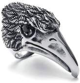 Stainless Steel Ring for Men, Eagle Head Ring Gothic Black Band Silver Band 56MM Size 9 Epinki
