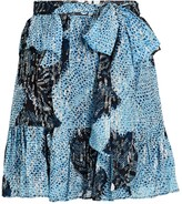 Ulla Johnson Zea Silk-Lurex Mini Skirt