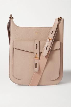 Tom Ford T Twist Medium Textured-leather Shoulder Bag - Taupe