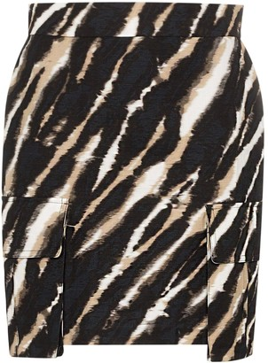 House of Holland tie-dye zebra print mini skirt