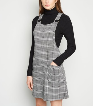 New Look Check Ring Strap Pinafore Dress