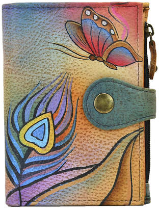 Anuschka Anna By Anna by Women's Wallets Peacock - Peacock Butterfly Hand-Painted Leather Wallet