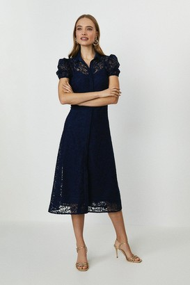 Coast Lace Midi Shirt Dress