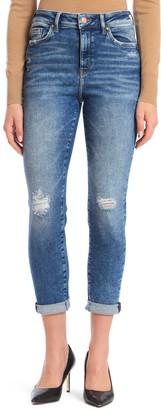 Mavi Jeans Cindy Ripped High Waist Crop Mom Jeans