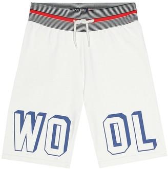 Woolrich Kids Printed cotton-blend shorts