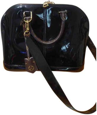 Louis Vuitton Alma BB Navy Patent leather Handbags