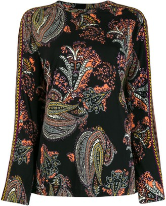 Etro Long Sleeved Paisley Print Blouse